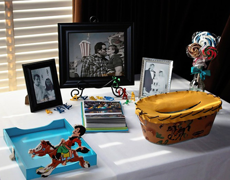 Our Guestbook Page Cowboy and Card Box