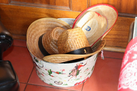Our Cowboy Hat Bucket